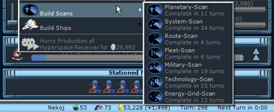 You can add scans to the production queue.